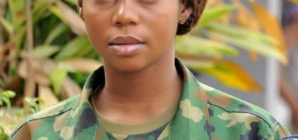 Images of Female soldier killed by jealous Airforce lover