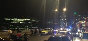 Terrorism fears as van ploughed into crowd on London bridge