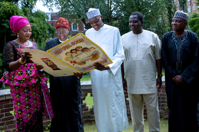 I feel strong enough to return home… President Buhari