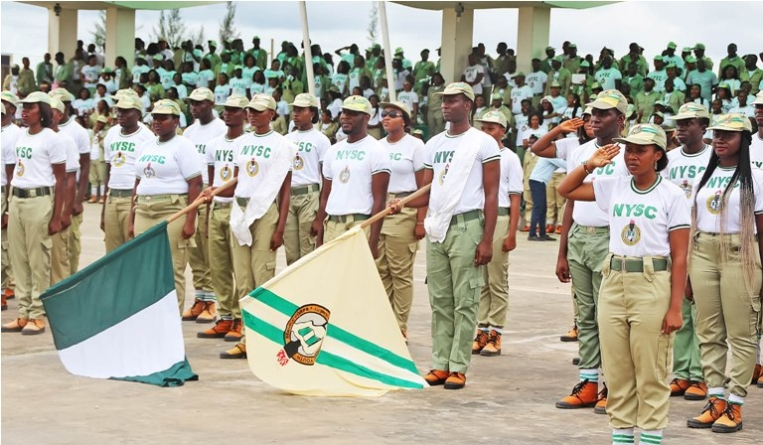 Buhari pleased with NYSC 'achieving unity'