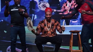 PHOTOS: Arsenal legend Thierry Henry in Lagos, crowned 'Igwe of football'
