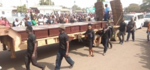 Again, Ortom  rejects cattle colony at funeral for victims of herdsmen attack