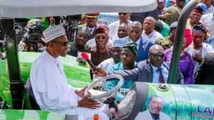 PHOTOS: Buhari launches tractor ownership scheme in Plateau