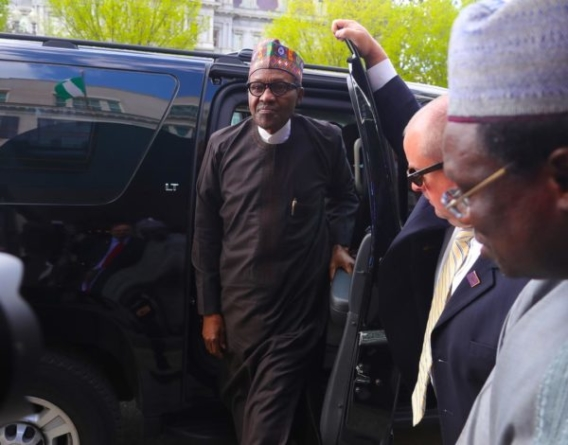PHOTOS: Buhari arrives Washington D.C.
