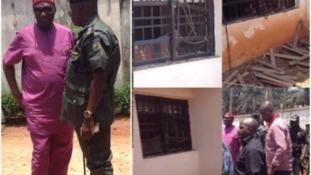 PHOTOS: Explosion rocks Nwodo's country home
