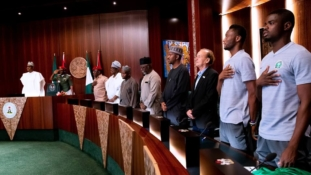 Cease the moment, Buhari urges departing Super Eagles team