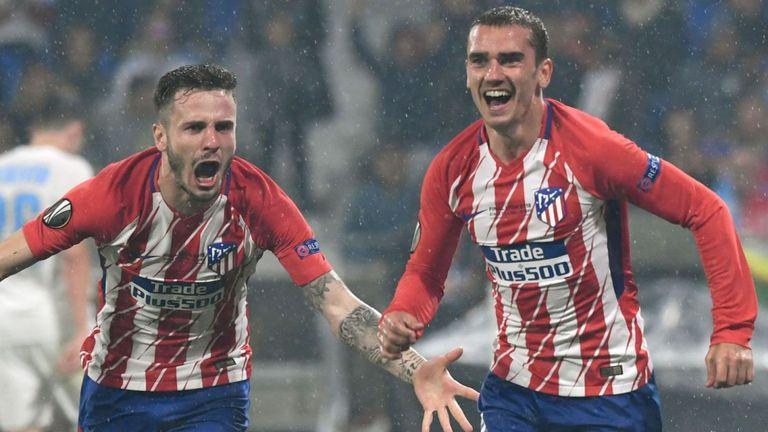 Antoine Griezmann scores twice as Atleti win third Europa League crown
