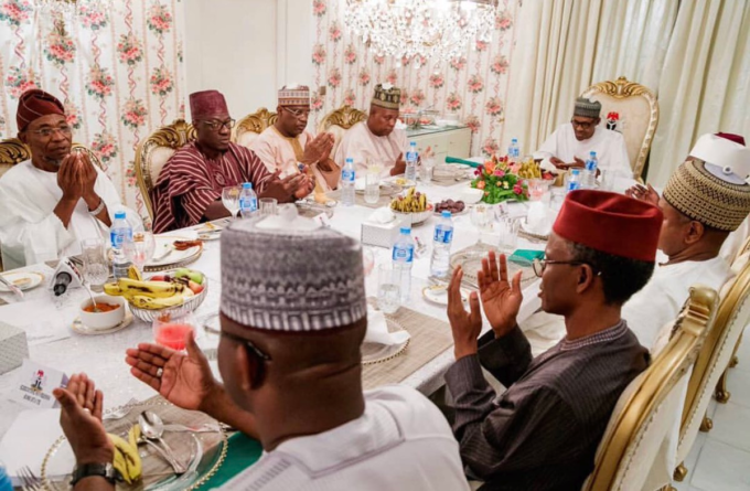 Buhari in closed door meeting with APC governors