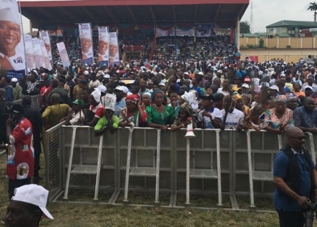 Ekiti people defy Fayose, troop out for Buhari, Fayemi