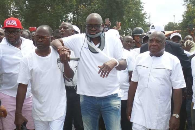 How policemen slapped and shot at me, Fayose cries at PDP rally