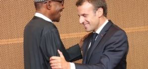 Buhari receives President Macron in Abuja