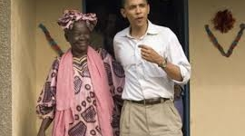 Obama in Kenya, dances with grandmother