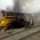 Two killed as train crushes commercial bus in Lagos