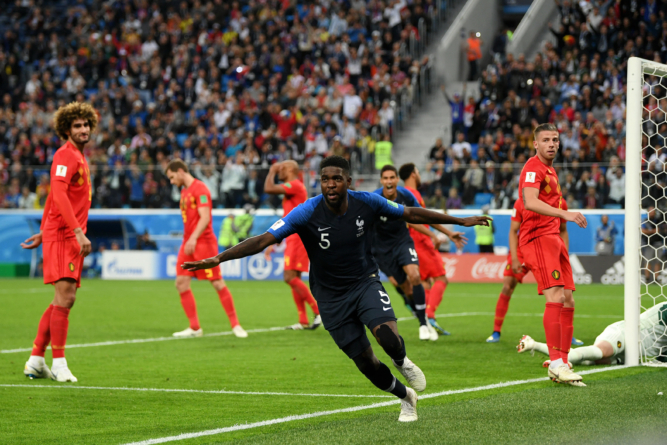 Samuel Umtiti heads France into World Cup final