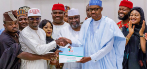 UPDATED: Buhari receives APC presidential form, says selfish, weakest members have exited party