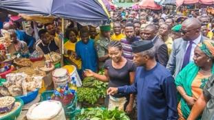 Osinbajo storms Abuja market with Tradermoni