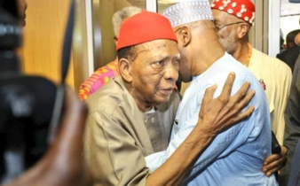 'I will not die until you become president' – Prof Ben Nwabueze tells Atiku after endorsement by Igbo leaders