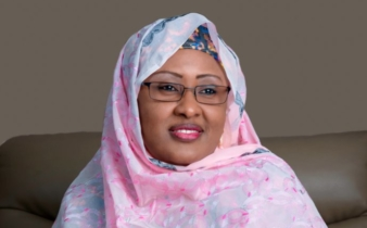 Video: Aisha Buhari asks Nigerian men to confront the two men hindering her husband's govt