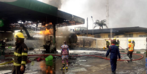 Fire guts Forte Oil station at Lagos Airport