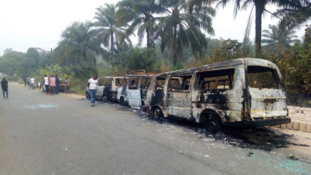 PHOTO: 2 killed by hoodlums in attack at INEC office, Akwa Ibom