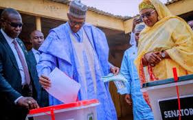 Buhari sure of victory as he votes with Aisha in Daura