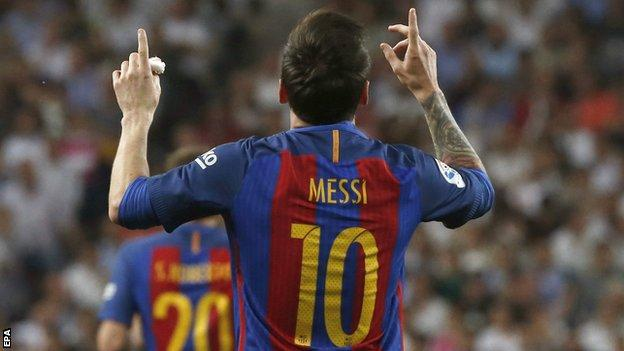 Messi's 500 La Liga goal redeems Barcelona at the Bernabeu