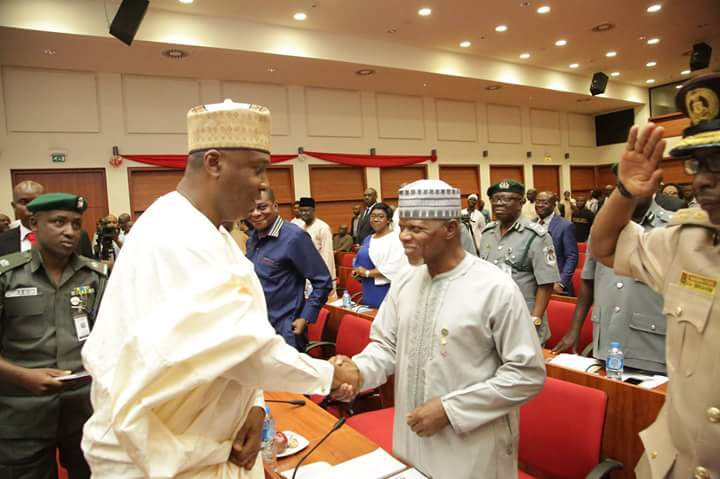 """End smuggling and you can appear before senate in """"Jeans and Tshirt""""- Saraki teases Ali"""