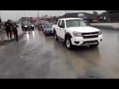 Video: Amaechi, Wike's convoy clash in Port Harcourt