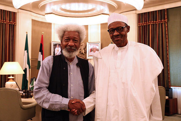 Buhari congratulates Soyinka at 85