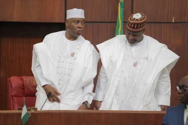 We will respond appropriately to Buhari's veto of electoral act- Saraki, Dogara