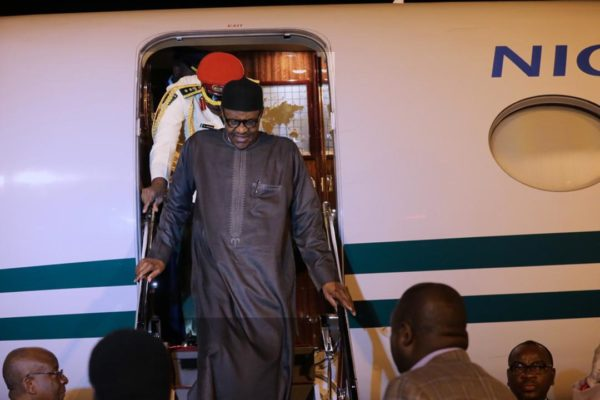 Buhari returns to Abuja from Daura