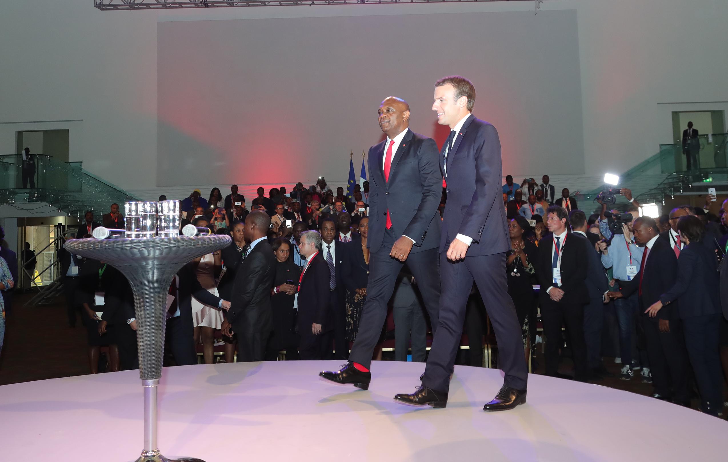 PHOTO:Tony Elumelu Foundation (TEF), President Macron hosts vibrant session with  2,000 entreprenuer