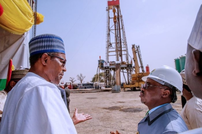 Buhari flags off oil drilling at Barambu in Bauchi