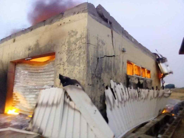 UPDATED: Containers loaded with card readers for Anambra election razed by Fire