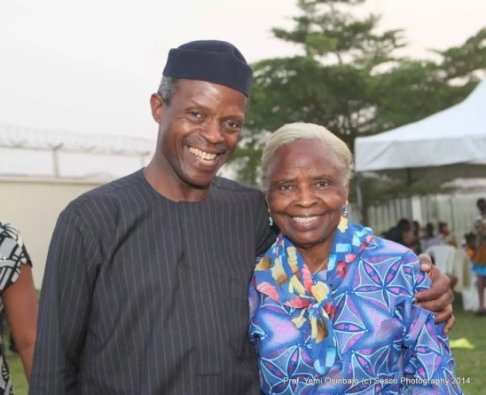 I knew something was going to happen to my son- Osinbajo's mum