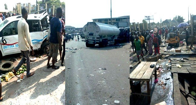 Six killed, 14 injured in Onitsha tanker accident
