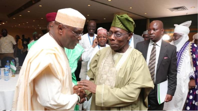 Atiku pays first visit to Obasanjo after losing to Buhari