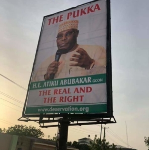 Atiku disowns 'Pukka' billboards, posters in Abuja, Yola