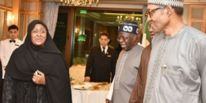 Tinubu meets Buhari in Saudi Arabia, says PDP suffering from election defeat trauma