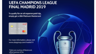 UBA Mastercard Holders to Win All-expenses-paid Trip to Finals of 2019 UEFA Champions League