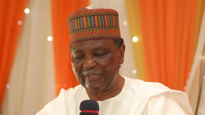 Gowon slumps at funeral in Delta
