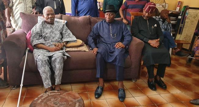 Ex-President Jonathan visits Pa Fasonranti over daughter's murder