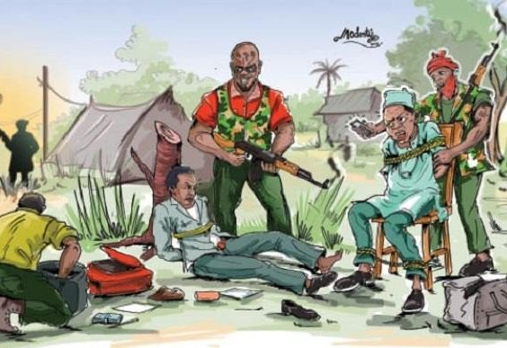 Kidnappers collect yam tubers, palm oil as ransom
