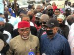 PDP leaders protest at NASS, calls for withdrawal of Onochie's momination as INEC commissioner