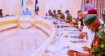 I am not ready to exit government a failure, Buhari tells security chiefs